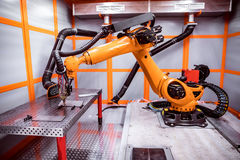 Het robotachtige verre scherpe systeem van de vezellaser Royalty-vrije Stock Foto