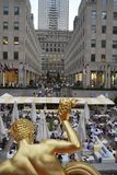 Het Rockefeller-vierkant in New York Royalty-vrije Stock Afbeeldingen