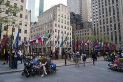 Het Rockefeller-vierkant in New York Stock Fotografie