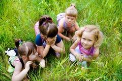 Het roddelen van meisjes Royalty-vrije Stock Foto