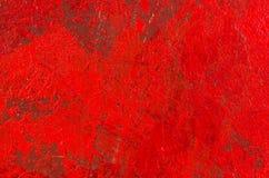 Het rode abstracte acryl schilderen Stock Foto's