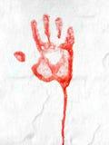 Het rode Af:drukken van de Hand Royalty-vrije Stock Foto's