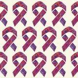 Het rode AIDS-vector naadloze patroon van het voorlichtingslint royalty-vrije illustratie