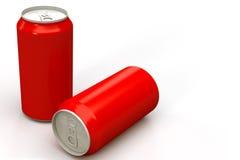 Het rode Aluminium kan Royalty-vrije Stock Foto