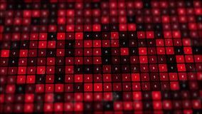 Het rode binaire scherm met net van aantallen royalty-vrije illustratie