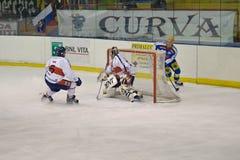 Het Rode Blauw van Milaan van de Club van het hockey Stock Foto's