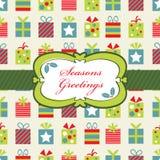 Het rode blauwe en groene Kerstmis verpakken Stock Foto's