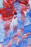 Het rode blauwe en witte acryl schilderen Royalty-vrije Stock Afbeelding
