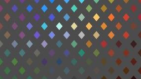 Het rode blauwgroene abstracte patroon van het hologrammozaïek Flikkerings geometrische achtergrond royalty-vrije illustratie
