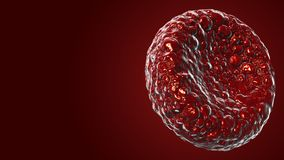 Het rode bloedcellengebruik als medische illustratie is een 3D beeld en het woord wordt geschreven stock illustratie