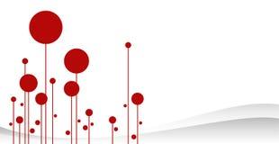 Het rode Bos vectorart. van de Winter Royalty-vrije Stock Fotografie