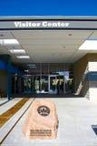 Het Rode de Bezoekercentrum van de Rotscanion Stock Afbeelding