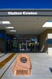 Het Rode de Bezoekercentrum van de Rotscanion Stock Fotografie