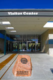 Het Rode de Bezoekercentrum van de Rotscanion Royalty-vrije Stock Afbeelding