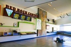 Het Rode de Bezoekercentrum van de Rotscanion Stock Foto