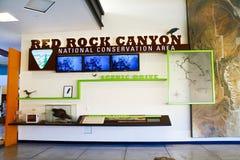 Het Rode de Bezoekercentrum van de Rotscanion Royalty-vrije Stock Foto's