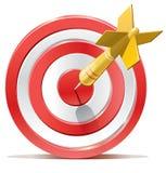 Het rode doel van het pijltjesdoel Royalty-vrije Stock Afbeeldingen