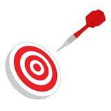 Het rode doel van het pijltjesdoel Stock Foto's