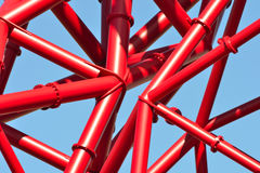 Het rode door buizen leiden Royalty-vrije Stock Foto's