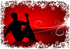 Het rode Drinken van de Kerstman Royalty-vrije Stock Fotografie