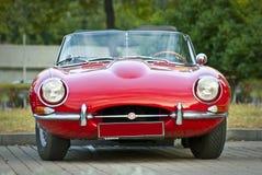 Het rode e-Type van Jaguar. Modelyear 1963 Royalty-vrije Stock Afbeelding
