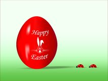 Het rode ei van Pasen stock illustratie