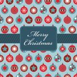 Het rode en blauwe Kerstmis verpakken Stock Foto's