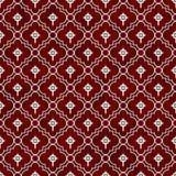 Het rode en Witte Keltische Dwarspatroon van de Symbooltegel herhaalt Achtergrond Royalty-vrije Stock Afbeelding