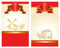 Het rode Etiket van de Drank Stock Afbeeldingen