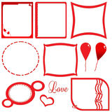 Het rode frame van de liefde Royalty-vrije Stock Afbeelding