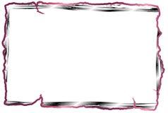 Het rode frame van de lijnfoto Stock Fotografie