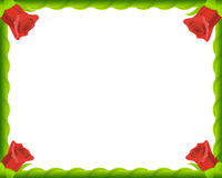 Het rode frame van de rozen romantische foto Stock Foto's