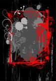 Het rode frame van Grunge Royalty-vrije Stock Afbeeldingen