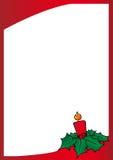 Het rode frame van Kerstmis stock illustratie