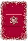 Het rode frame van Kerstmis met sneeuwvlokken Royalty-vrije Stock Fotografie