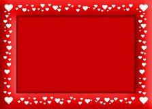 Het rode frame van Velentine Royalty-vrije Stock Afbeeldingen