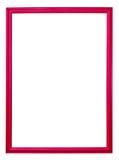 Het rode geïsoleerde frame van het fotobeeld Stock Foto