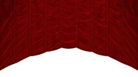 Het Rode geïsoleerdee Gordijn van Bordeaux Royalty-vrije Stock Afbeeldingen