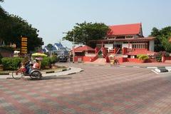 Het rode gebouw stock foto's