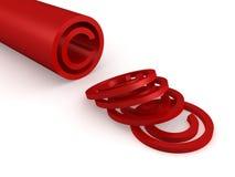 Het rode glanzende en glanzende concept van het auteursrechtteken Royalty-vrije Stock Afbeeldingen