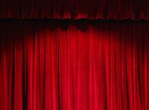 Het rode Gordijn van het Theater Royalty-vrije Stock Afbeeldingen