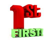 Het rode Groene Eerste Van letters voorzien Royalty-vrije Stock Afbeelding