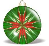 Het rode Groene Ornament van Kerstmis van de Ster Stock Afbeelding