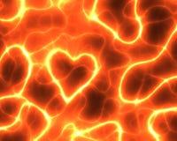 het rode hart van de elektriciteitsMacht vector illustratie