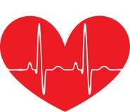 Het rode hart van de impuls Stock Afbeeldingen