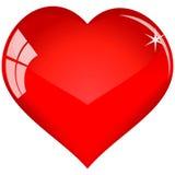Het rode hart van de kleur voor u (geen netwerk) Stock Fotografie