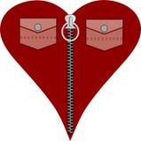 Het rode hart van de manier voor liefdedag stock illustratie