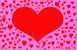 Het rode Hart van de Valentijnskaart stock illustratie