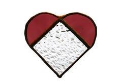 Het rode Hart van het Glas stock fotografie