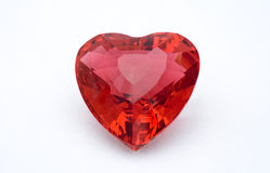 Het rode Hart van het Kristal Stock Afbeeldingen